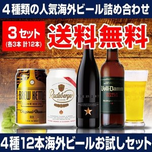 【送料無料】いちおし海外ビールお試し12本セット 5弾《 イネディット、ラーデベルガー、ブルーケトル、ボルダム 》4種×各3本12本セット [長S]