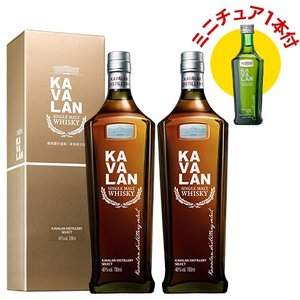 ミニチュア1本付 KAVALAN カバラン ディスティラリーセレクト 2本セット 700ml×2本 シングルモルト ウィスキー whisky 台湾 カヴァラン 長S|likaman