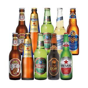 アジア7か国10本セット アジアビール 送料無料 瓶 ギフト 詰め合わせ 飲み比べ ビールセット 長S リカマンPayPayモール店