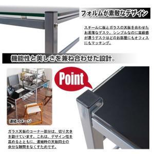 突っ張りデスクパーテーションシステム ガラス天板デスク&マガジンパーテーション 幅120cm|like1147|04
