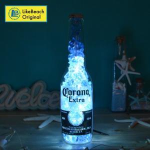 コロナスモールボトルライト(アイスクラッシュ)インテリアライト 卓上ライト 照明 likebeach