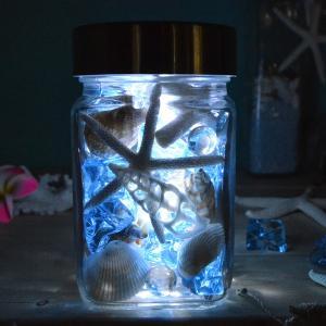ビーチボトルライト インテリアライト 照明 スターフィッシュ 貝殻 likebeach