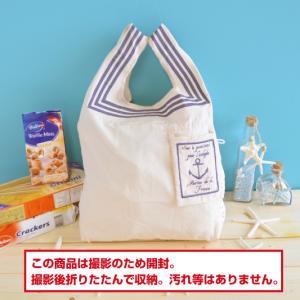 エコバッグ アウトレット 折りたたみバッグ 買い物袋 レジ袋 セーラーマリーン|likebeach