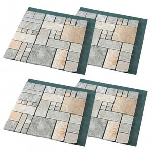 雑草が生えない天然石マット ローマ調4枚組 送料無料の商品画像