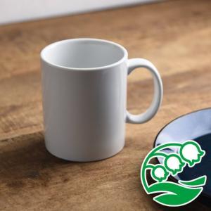 マグカップ おしゃれ プレゼント 美濃焼 11.5cm シンプル 切立 マグカップ ホワイト スズラン|lilly2016