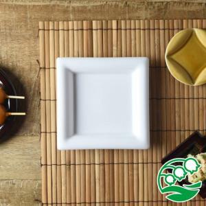 角皿 和食器  おしゃれ 焼き物皿 刺身皿美濃焼 小田陶器 Meji(メジ) 取皿 角通し 白色 白色|lilly2016