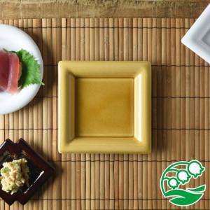 角皿 和食器  おしゃれ 焼き物皿 刺身皿美濃焼 小田陶器 Meji(メジ) 取皿 角通し 飴色(ライトブラウン) スズラン|lilly2016