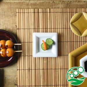 角皿 豆皿 おしゃれ 和食器 美濃焼 小田陶器 Meji(メジ) 豆皿 角通し 白色 スズラン|lilly2016