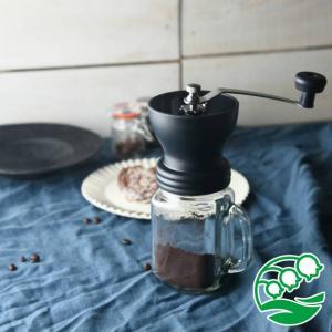 コーヒーミル 手動 携帯 手挽き 香り高い コーヒーミルジャー(ハンドミル) スズラン|lilly2016
