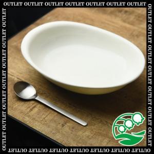 カレー皿 和食器 アウトレット 白結晶 23.7cm オーバルベーカー 美濃焼 おしゃれ カフェ食器 シンプル スズラン|lilly2016