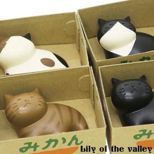 ネコ 猫 雑貨 グッズ 小物 卓上 おしゃれ かわいい ギフト プレゼント 磁石 スズラン|lilly2016