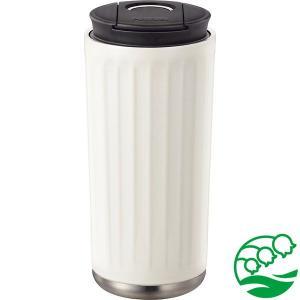 タンブラー 蓋付き おしゃれ 持ち運び 保冷保温 ピーコック ステンレスタンブラー シフォンホワイト ATS-400 スズラン|lilly2016