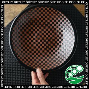【在庫限り】 アウトレット わけあり 盛り鉢 大皿 和食器 美濃焼 23cm 市松模様 大鉢 スズラン|lilly2016