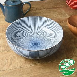 煮物鉢 盛り鉢 おしゃれ 和食器 美濃焼 千段十草 21.8cm 大鉢 スズラン|lilly2016