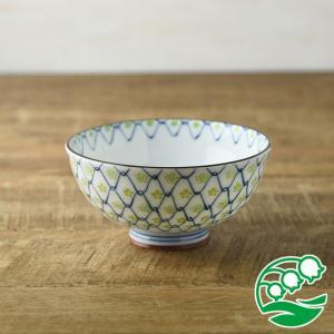 お茶碗 おしゃれ ご飯茶碗 ちりめん小花 11.5cm茶碗 ヒワ 和食器 美濃焼 テーブルウエア キッチン 飯碗 スズラン|lilly2016