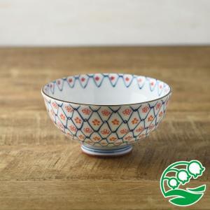 お茶碗 おしゃれ ご飯茶碗 ちりめん小花 11.5cm茶碗 赤 和食器 美濃焼 テーブルウエア キッチン 飯碗 スズラン|lilly2016
