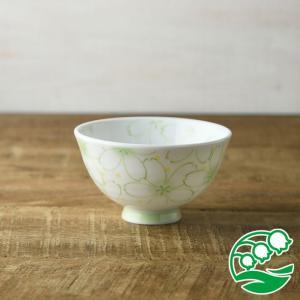 お茶碗 おしゃれ ご飯茶碗 一面のさくら 11cm軽量茶碗 ヒワ 和食器 美濃焼 テーブルウエア キッチン 飯碗 スズラン|lilly2016