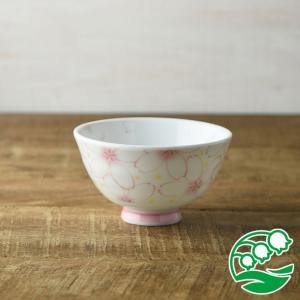 お茶碗 おしゃれ ご飯茶碗 一面のさくら 11cm軽量茶碗 ピンク 和食器 美濃焼 テーブルウエア キッチン 飯碗 スズラン|lilly2016
