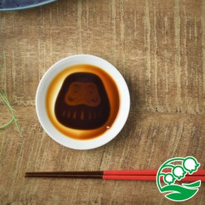 小皿 おしゃれ 豆皿 醤油皿 浮き出る 和食器 美濃焼 かげあそび 8.2cm 白磁 だるま スズラン|lilly2016