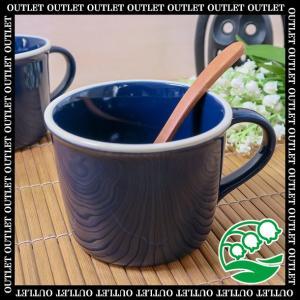 アウトレット 洋食器 マグカップ 美濃焼 マリンブルー マグカップ スズラン|lilly2016