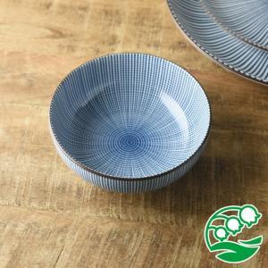 煮物鉢 中鉢 千段十草 15.4cm 和食器 美濃焼 ボウル 盛鉢 おしゃれ 和モダン スズラン|lilly2016