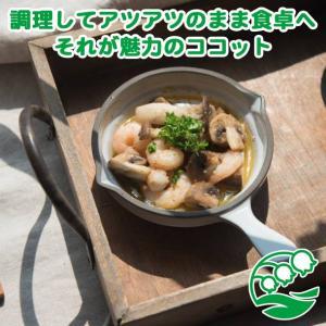 グラタン皿 おしゃれ ココット皿 洋食器 美濃焼 トリコロール・グリル スキレット型ココット ホワイト スズラン|lilly2016