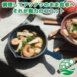 グラタン皿 おしゃれ ココット皿 洋食器 美濃焼 トリコロール・グリル スキレット型ココット ネイビー スズラン|lilly2016