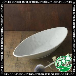 カレー皿 和食器 アウトレット艶粉引き カヌー型深皿 美濃焼 おしゃれ カフェ食器 和モダン スズラン|lilly2016