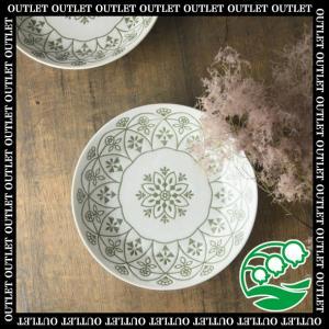 パスタ皿 深皿 北欧 おしゃれ アウトレット 美濃焼 20.5cm レース柄ホワイト 深皿 スズラン|lilly2016