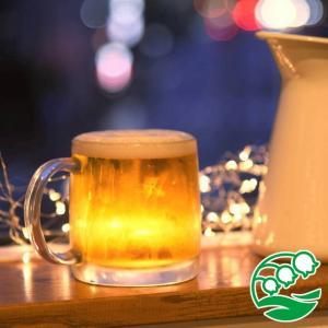 ビールグラス おしゃれ ショートサイズのビールジョッキ 380ml スズラン|lilly2016
