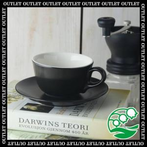 マグカップ おしゃれ プレゼント アウトレット 美濃焼 マットブラック コーヒーカップ&ソーサー スズラン|lilly2016
