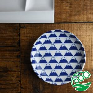 取り皿 おしゃれ 和食器 中皿 銘々皿 美濃焼 富士山 16.5cm 平皿 アウトレット スズラン|lilly2016