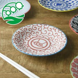 小皿 取り皿 おしゃれ 洋食器 美濃焼 ジャポネスク 16.5cm取り皿 赤唐草 スズラン|lilly2016