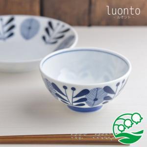 ご飯茶碗 器 おしゃれ 美濃焼 luonto ライスボウル 日本製 ごはん茶碗 スズラン|lilly2016