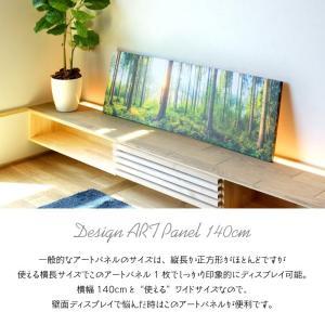 デザイン アートパネル フレーム 幅140cm ワイドタイプ 写真 キャンバス 北欧 アメリカン 西海岸 模様替え 部屋飾り ファブリックパネル ポスター 額縁 ART-122 lily-birch 02