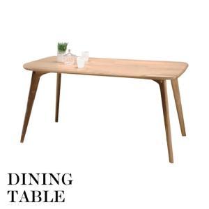 天然木 北欧 スタイル ダイニングテーブル 幅150cm ダイニングテーブル 新居 ファミリー 新生活 CL-817TNA|lily-birch
