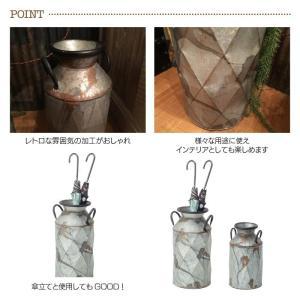 ミルクポット M 傘立て アンブレラスタンド おしゃれ かわいい フラワーポット ガーデンポット ブリキ缶 かさ立て アンティーク風 ELF-330M|lily-birch|03