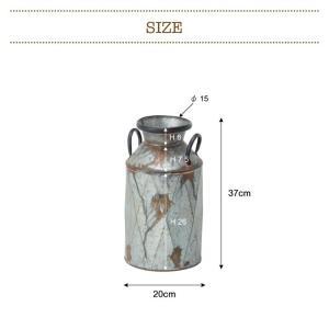ミルクポット M 傘立て アンブレラスタンド おしゃれ かわいい フラワーポット ガーデンポット ブリキ缶 かさ立て アンティーク風 ELF-330M|lily-birch|04