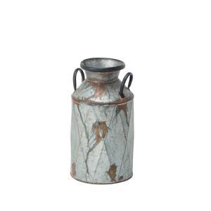 ミルクポット M 傘立て アンブレラスタンド おしゃれ かわいい フラワーポット ガーデンポット ブリキ缶 かさ立て アンティーク風 ELF-330M|lily-birch|05