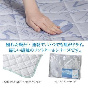 ソフトクール 接触冷感 ベッドパッド 熱中症対策 ひんやり寝具 布団カバー ベッドカバー 涼感 快適 不眠症 不眠対策 安眠 GLS-387|lily-birch|05