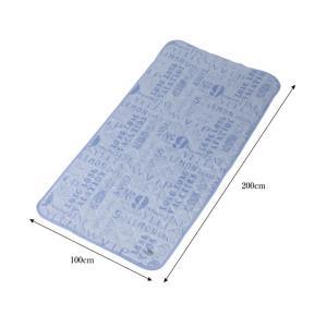 ソフトクール 接触冷感 ベッドパッド 熱中症対策 ひんやり寝具 布団カバー ベッドカバー 涼感 快適 不眠症 不眠対策 安眠 GLS-387|lily-birch|06