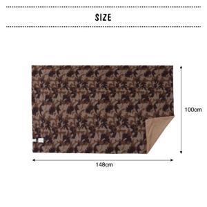 丸めて便利な両面 ロールブランケット 迷彩柄 毛布 寝具 ブラウン グリーン リバーシブル バッグインブランケット カモフラ柄 GLS-476|lily-birch|05