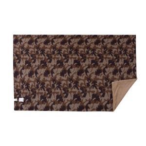 丸めて便利な両面 ロールブランケット 迷彩柄 毛布 寝具 ブラウン グリーン リバーシブル バッグインブランケット カモフラ柄 GLS-476|lily-birch|06