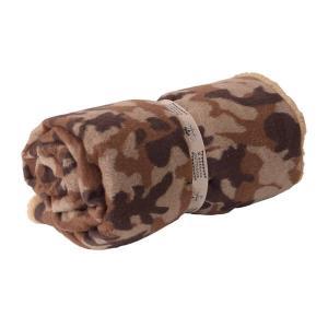 丸めて便利な両面 ロールブランケット 迷彩柄 毛布 寝具 ブラウン グリーン リバーシブル バッグインブランケット カモフラ柄 GLS-476|lily-birch|07