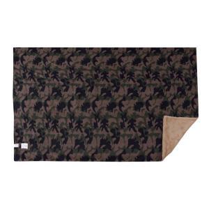 丸めて便利な両面 ロールブランケット 迷彩柄 毛布 寝具 ブラウン グリーン リバーシブル バッグインブランケット カモフラ柄 GLS-476|lily-birch|08