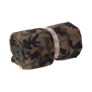 丸めて便利な両面 ロールブランケット 迷彩柄 毛布 寝具 ブラウン グリーン リバーシブル バッグインブランケット カモフラ柄 GLS-476|lily-birch|09