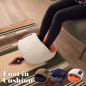 もこもこ ボア フットインクッション 脚暖器 足暖器 あったか ふかふか もこもこ クッション 靴下 ルームウェア アウトドア 冷え性 プレゼント GLS-480 lily-birch