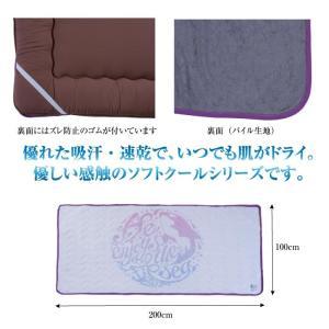 ソフトクール 接触冷感 ベッドパッド 敷きパッド 熱中症対策 夏 クール寝具 クールパッド 涼感 快適 掛け布団 ひざ掛け タオルケットひんやり 夏用 GLS-595|lily-birch|03