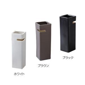 ディンプル 傘立て 陶器製 かさたて かさ立て カサ立て スリム デザイン シンプル おしゃれ 白 黒 ホワイト ブラック ブラウン LFS-111WH LFS-111BR LFS-111BK lily-birch 02
