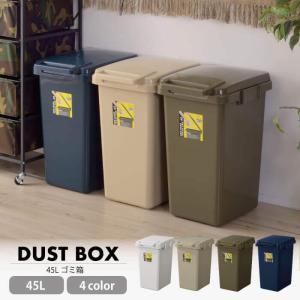 ワンハンドトラッシュカン 45L ゴミ箱 スリム ダストボックス おしゃれ コンテナスタイル ゴミ箱 ごみ箱 新生活 生ゴミ オムツ 臭い防止 LFS-845|lily-birch